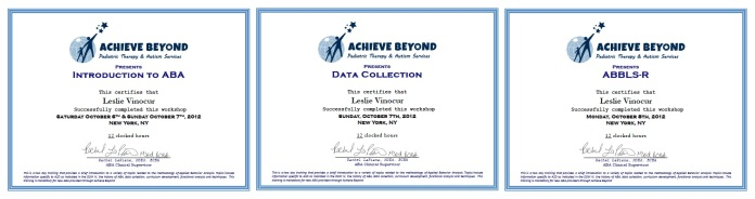 Additional Training in Behavior Analysis beyond Masters coursework